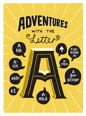 Adventures with A (von_brandis) Tags: illustration typography sketchbook type letter alphabet lettering draw adventures a handdrawntypography vonbrandis brandtbotes