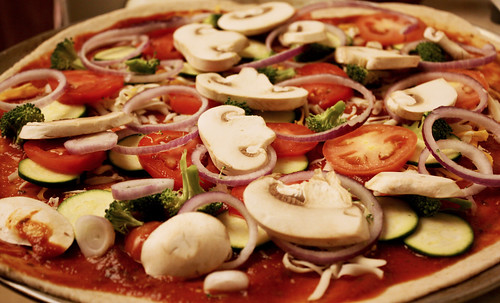 Home Made Veggie Pizza