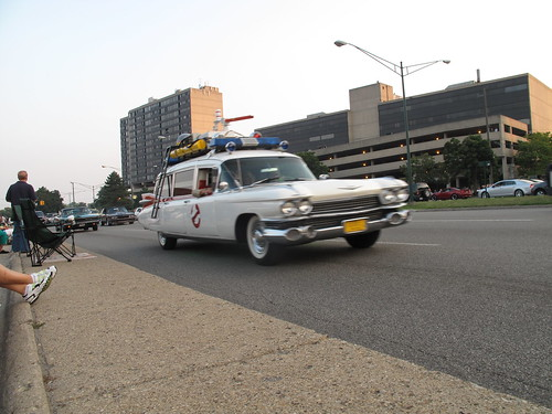 original Ecto1 cruising up Woodward
