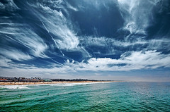 Pismo Beach South (petervanallen) Tags: world california trip blue sea sky usa white green beach clouds landscape coast pier nikon highway pacific surfers pismo pismobeach beachboys pacificcoasthighway d90 petervanallen wwwpetervanallencom