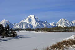 Oxbow Bend (bhophotos) Tags: winter snow mountains ice nature landscape geotagged nikon snakeriver tetons grandtetonnationalpark oxbowbend mtmoran d80 geo:lat=43865042 geo:lon=110546579