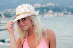 Lesya (padlik) Tags: sea portrait girl hat nikon yalta  rosepetal d300 sexygirl    russiangirl girlinhat cremea  nikond300 ukraineangirl