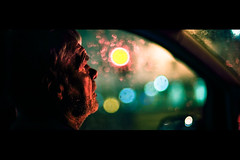 Trevor (TGKW) Tags: old city portrait people man window car night lights driving sitting bokeh glasgow trevor nightlife 0387