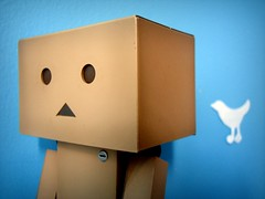 *Tweet* (willycoolpics.) Tags: blue white macro bird action figure picnik tweet danbo twitter hbw revoltech danboard