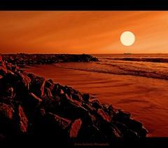 Sunset (aroon_kalandy) Tags: light sunset orange sun india beach nature beauty creativity lights evening rocks artistic awesome greatshot im