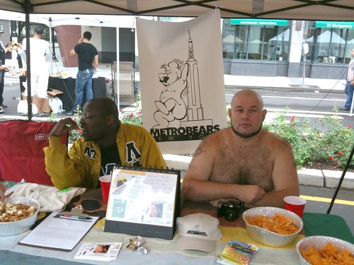 Metrobears booth, Jersey City Pride