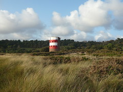 Beach, grass and tower