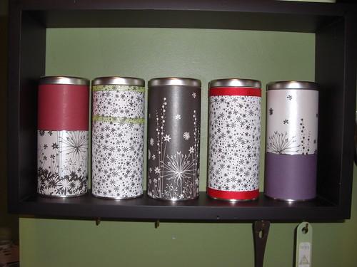 Covered Tea Tins