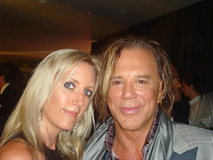 GQ's Man of the year Mickey Rourke arrived and the p-a-r-t-y started