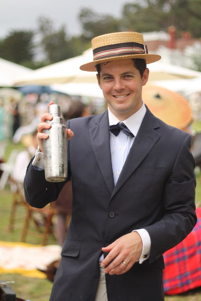 Mr. Trott Prepares Cocktails
