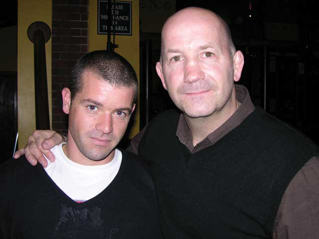 Geoff thompson and martial arts instructor and film extra lee
