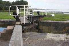 Lock gates. (DianneB 2007.) Tags: marina boats cheshire swans widnes spikeisland dib gadgetgirl fiddlersferrypowerstation