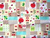 Cute Japanese Cotton Fabric - Decole - Decolello - Smiling Apple And Clover (kawaii_fabric_and_paper) Tags: japan japanese linen sewing fabric cotton commercial kawaii supplies decole japanesefabric shinzikatoh decolello