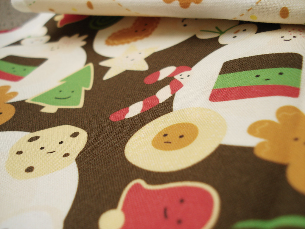 cookies for santa fabric