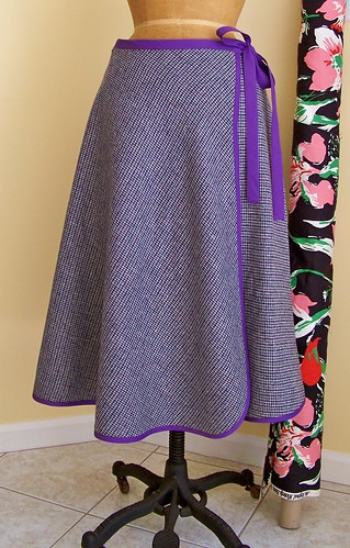 Purple Wool Skirt by you.