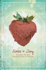 MY SISTERS WEDDING INVITATIONS (p r o m i s e) Tags: wedding paper design graphicdesign strawberry invitations