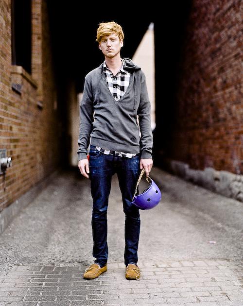 Purple Helmet, Toronto Street Fashion @ Yorkville, Toronto