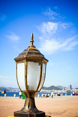 Magic Lantern (Roby Chandra) Tags: beach lamp dalian lantern