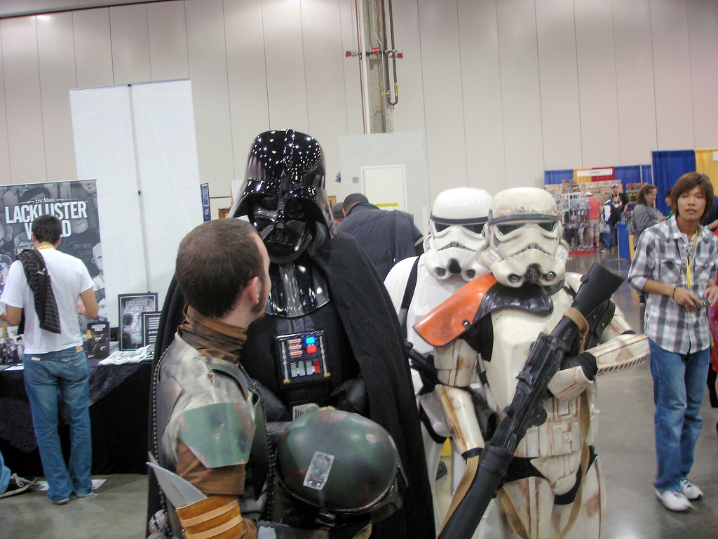 Vader discusses with Boba Fett