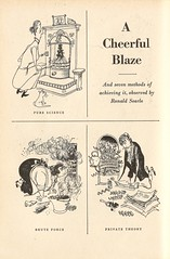 A cheerful blaze - 1 - by Ronald Searle, 1949 (mikeyashworth) Tags: fire cartoon illustrator 1949 searle ronaldsearle ronaldsearlecartoonist mikeashworthcollection
