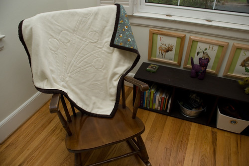 stitch baby quilt