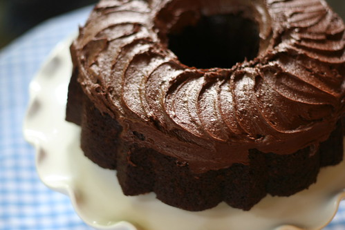 Root Beer Bundt Cake with Root Beer Fudge Frosting