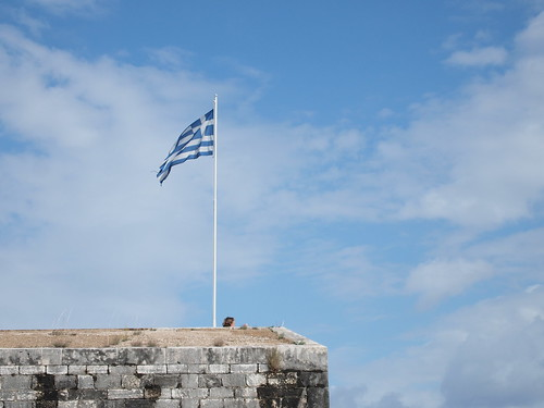 Greece Flag in New Fortress