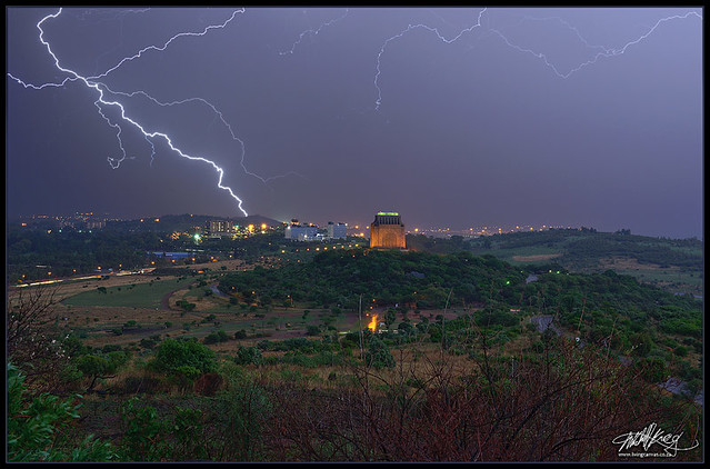 Lightning Over The Voortrekker Monument