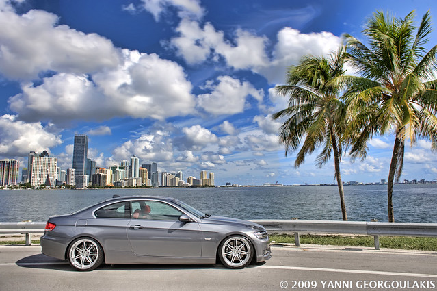 travel beautiful car photography grey nikon inch key photographer photoshoot miami corse space gray tropical bmw rims 2008 19 coupe d3 linea modded biscayne coilovers 3series yanni dyna 19s 335 2470 e92 335i georgoulakis