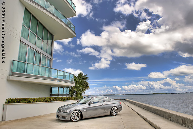 car grey nikon inch downtown photoshoot miami corse space gray bmw rims 2008 19 coupe d3 linea brickell modded coilovers 3series yanni dyna 19s 335 2470 e92 335i georgoulakis