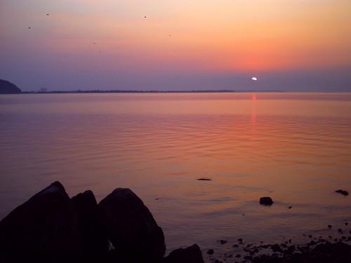 琵琶湖の夕焼け-19