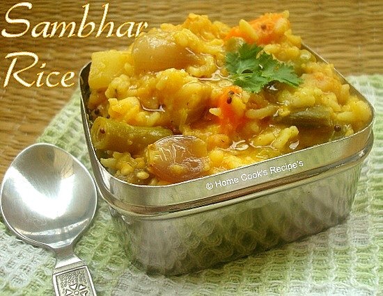 sambhar sadham on lunch box