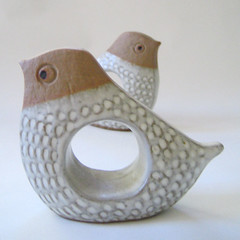 For the birds. (Kultur*) Tags: bird birds vintage kultur retro kawaii 70s 1970s stoneware napkinrings