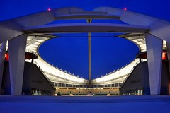 The grand entrance (chriswilson7642) Tags: world africa blue roof building cup architecture southafrica football arch view stadium fifa soccer south awesome moses morningside complete 2010 worlcup fifa2010 mosesmabhidastadium mahbida bafanbafana