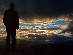 Alone man (Nick-K (Nikos Koutoulas)) Tags: sunset sky man clouds alone nikos greece nickk  ellada   kozani abigfave     gvr1 koutoulas  siilouet