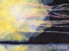 Glow (tkikot) Tags: abstract macro art nature colors painting colours arte handmade drawing natura draw dye astratto disegni colori disegno visualart astratta surreale tessuto tintura abstracting sperimental sharingart tkikot