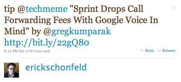 """Twitter / erickschonfeld: tip @techmeme """"Sprint Drop ..."""