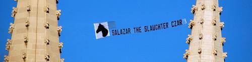 Salazar the Slaughter Czar Flies Over Denver
