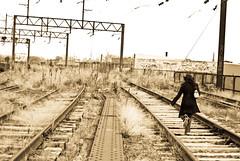 Trespassing (AntonioJosé) Tags: railroad philadelphia train high nikon tracks line viaduct abandon elevated abandonment d40 d40x