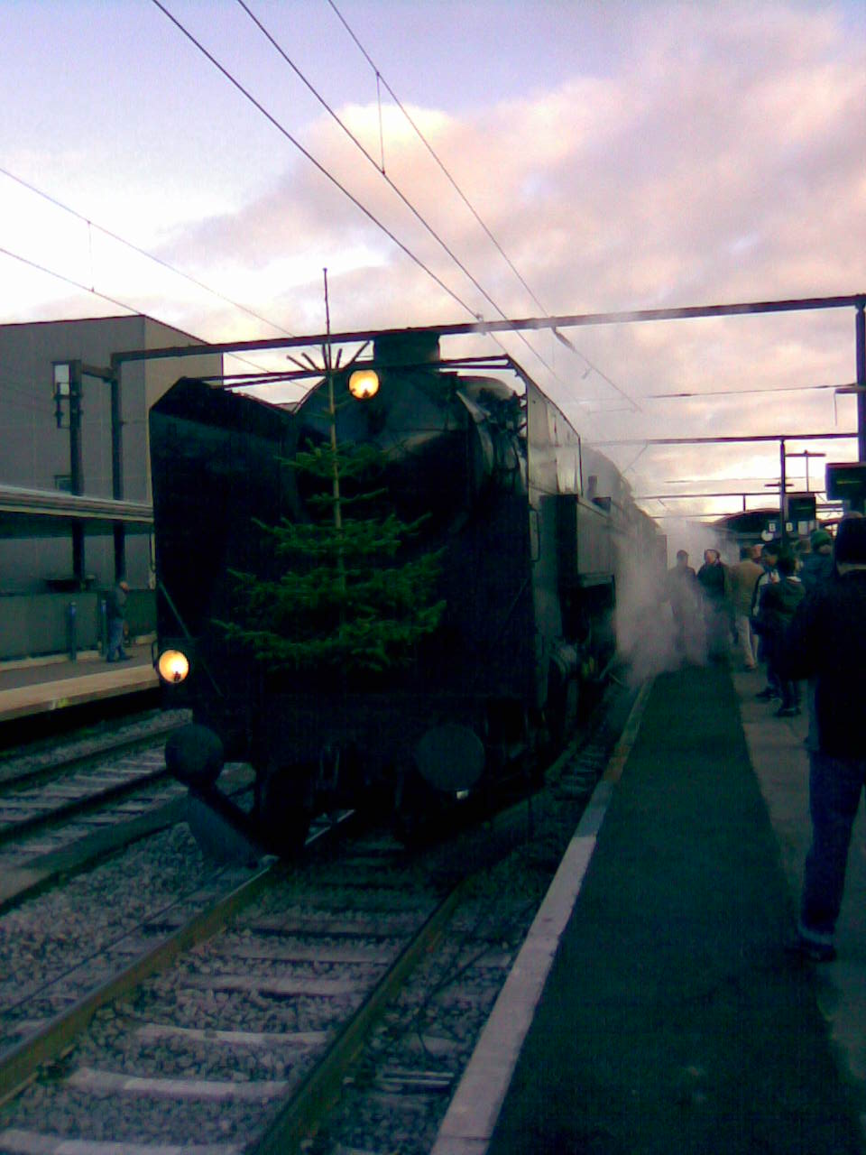 Museum Steam Train at Roskilde Railway Station