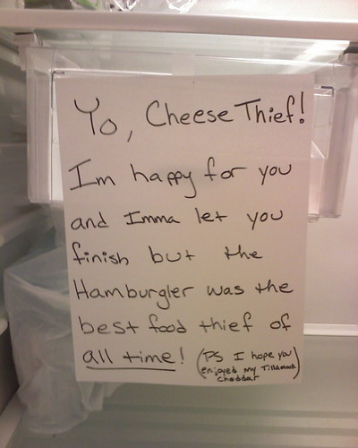 Yo, Cheese Thief! I'm happy for you and Imma let you finish but the Hamburgler was the best food thief of all time!
