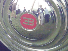 Bugatti Royale Type Hubcap (Yours truly reflected) (74Mex) Tags: festival speed type bugatti hubcap goodwood royale 41 2007