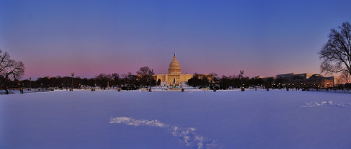 8 shot stitch of Capitol in the Snow.