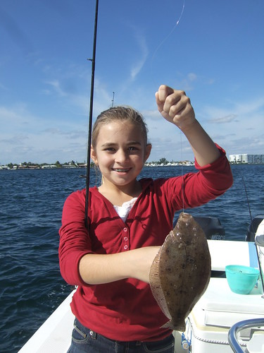 McKenzie catches a nice Flounder