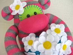 Clover ( craft jam ) Tags: cute love daisies monkey sock princess handmade stripes craft softies cupcake daisy stripy