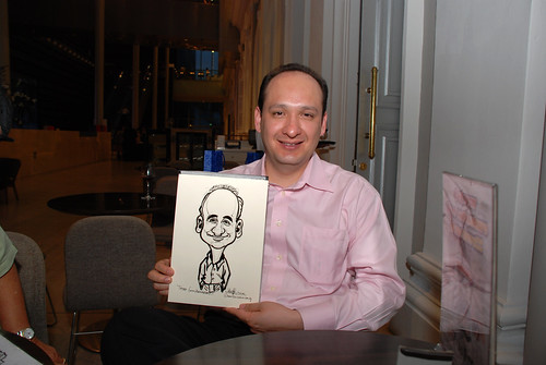 Caricature live sketching for Tetra 60th Anniversary - 7