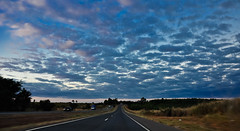 On the road (Claudia Oseki) Tags: road brazil sky nature braslia brasil landscape cloudy paisagem estrada goinia gois cloudys justclouds