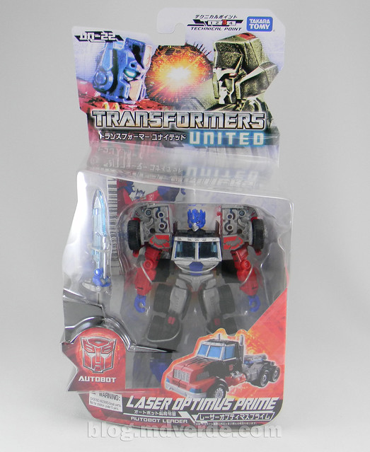 Transformers Laser Optimus Prime United Deluxe - caja
