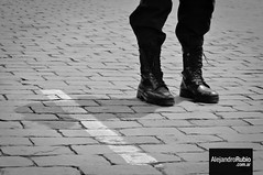 Points of authority - Puntos de Autoridad (.Alejandro Rubio.) Tags: bw black byn peru argentina argentine buenosaires nikon boots top military negro best zapatos militar pies negra foots botas suelo adoquines mejores piso alerubio alejandrorubio