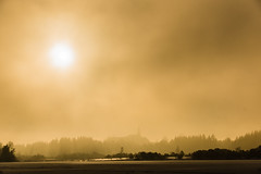 The golden Morning (*Capture the Moment*) Tags: 2015 dunst fotowalk frost kirchsee lake mist schnee snow sonnenaufgang sonya77 sonydt16105mm sunrise wetter winter